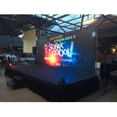 Outdoor Backdrop set with stage