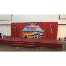 Backdrop Printing & Installation on stage