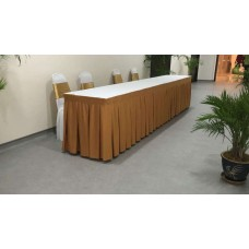 Banquet table with skirting Rental