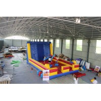 4in1 Inflatble game. Wall climbing - Sticky wall - Bungee runner - point gladiator
