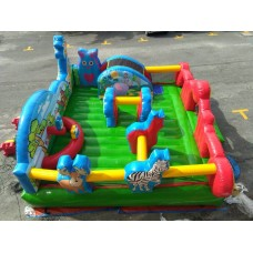 Combo bed inflatable bouncing castle