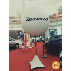 Lighted stand balloon for Roadshow