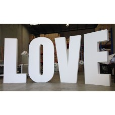 Styrofoam Giant Wording